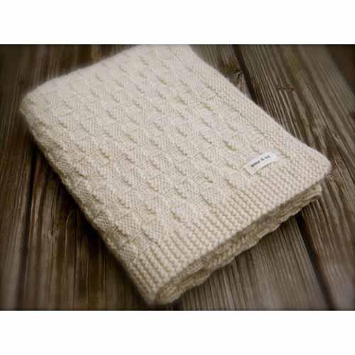 Knitting Stitches Yb : Basketweave Blanket in Weepaca-Yarn Barn Of Kansas