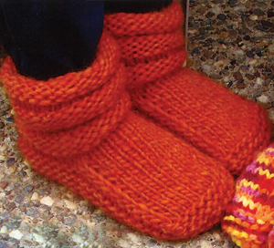 Mens Beanie Knitting Pattern Free : KPS Pattern 113 Childrens Mukluk Slippers-Yarn Barn Of Kansas