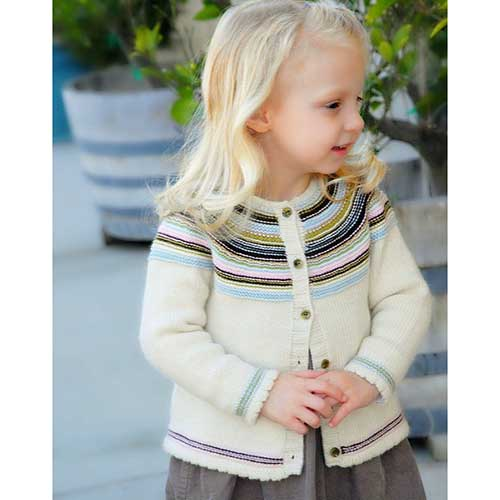 Never Not Knitting Pattern Playful Stripes Childs Cardi Yarn Barn Of