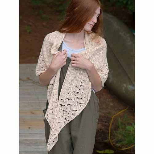 Rockport Shawl in Remix Light