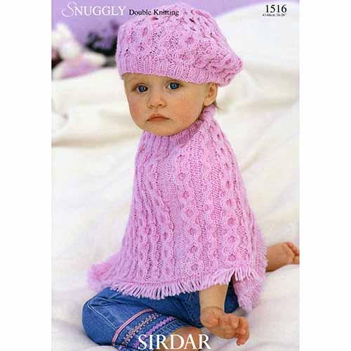 Sirdar Pattern 1516 Baby Poncho And Beret Yarn Barn Of Kansas