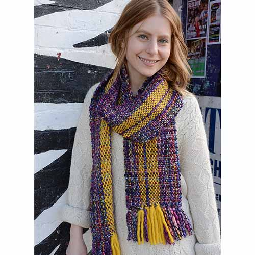 Mosaic Magic Scarf Kit In Caracol Yarn Barn Of Kansas